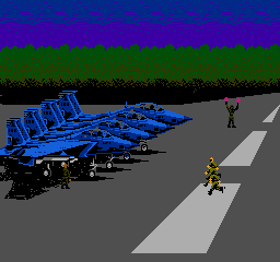 Airwolf NES Enemy pilots rushing to their planes