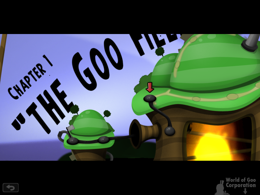 World of Goo iPad Chapter 1, where you pick your level