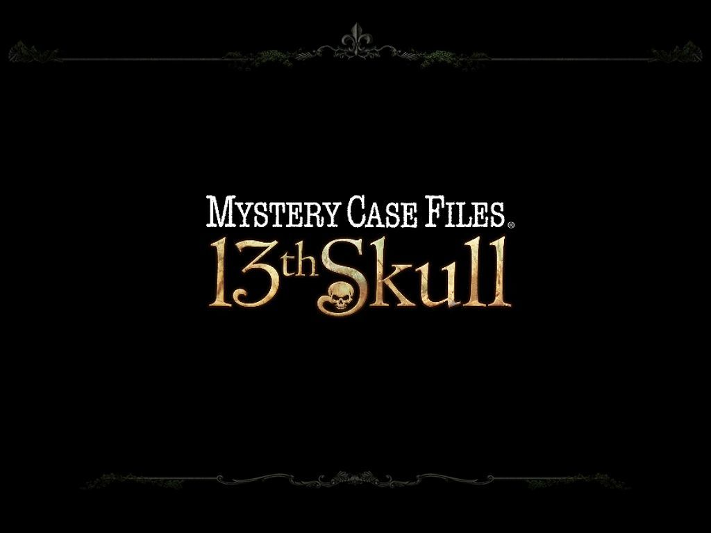Mystery Case Files: 13th Skull Windows Title Screen