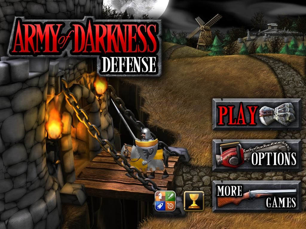 Army of Darkness: Defense iPad Title / main menu