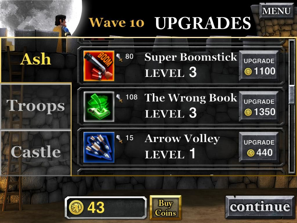 Army of Darkness: Defense iPad Wave 10 purchasing upgrades