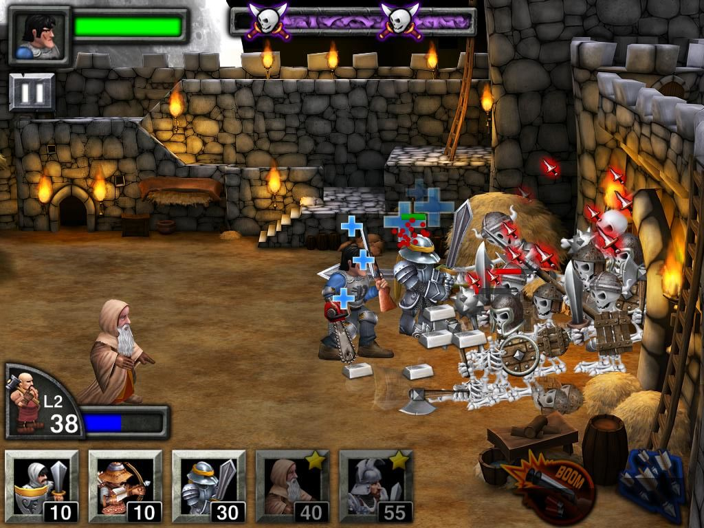Army of Darkness: Defense iPad Push them back to the castle gate while a Wiseman heals Ash from behind far from danger