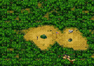 Jungle Strike Genesis American outpost.