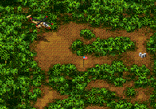 Jungle Strike Genesis Starting the Mountains mission.