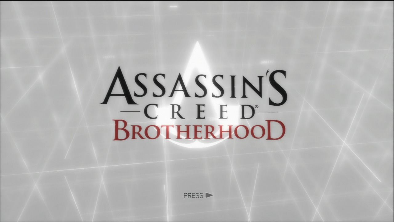 Assassin's Creed: Brotherhood PlayStation 3 Main title.