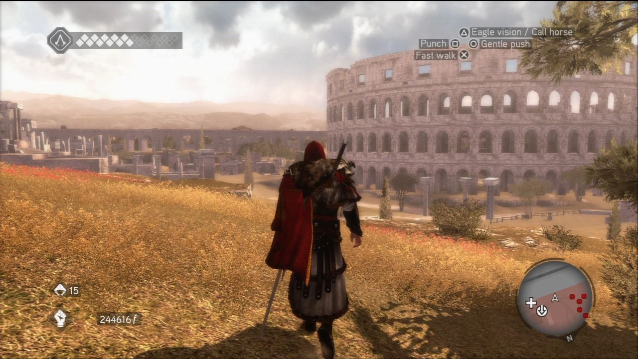 Assassin's Creed: Brotherhood PlayStation 3 This time place of events is Rome and its famous places.