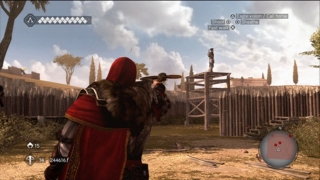 Assassin's Creed: Brotherhood PlayStation 3 For stealth attacks at distance use your crossbow.