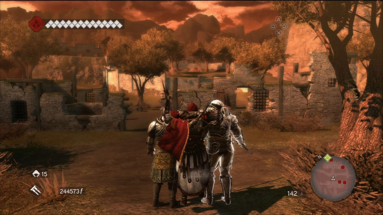 Assassin's Creed: Brotherhood PlayStation 3 Double kill with hidden blades.