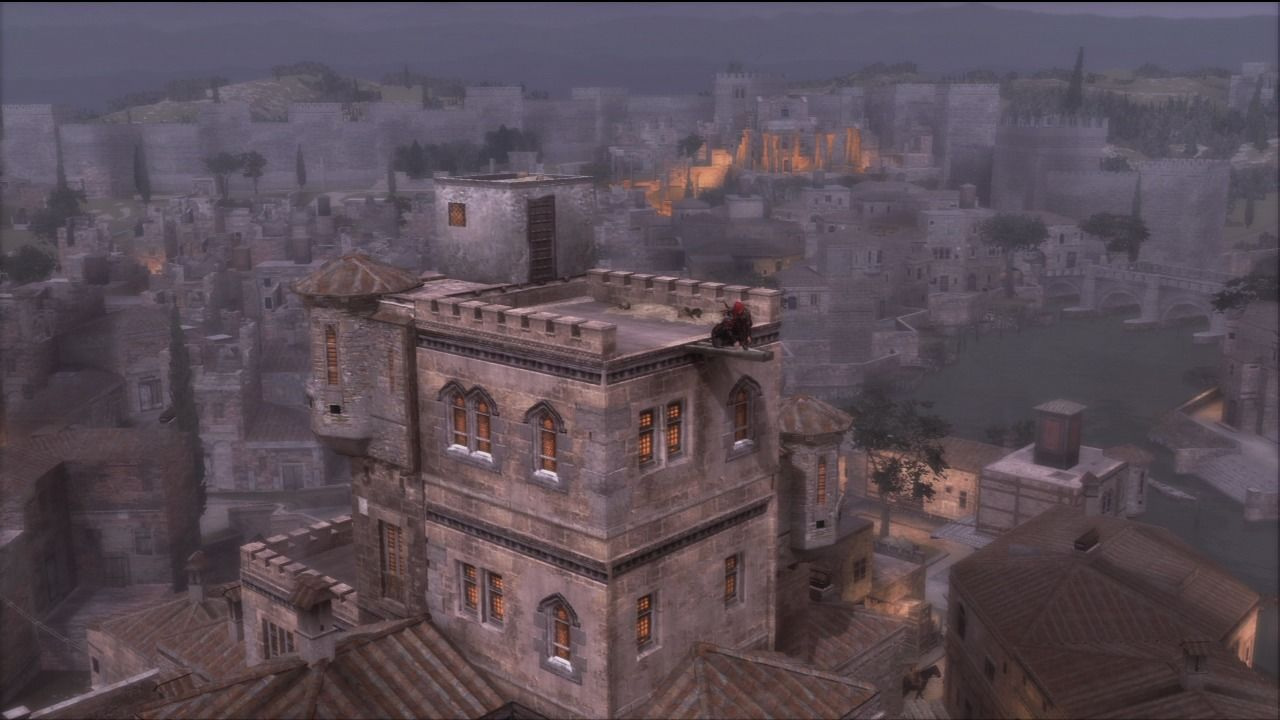 Assassin's Creed: Brotherhood PlayStation 3 Only eagles come this high, but someone must've built those jumping points.