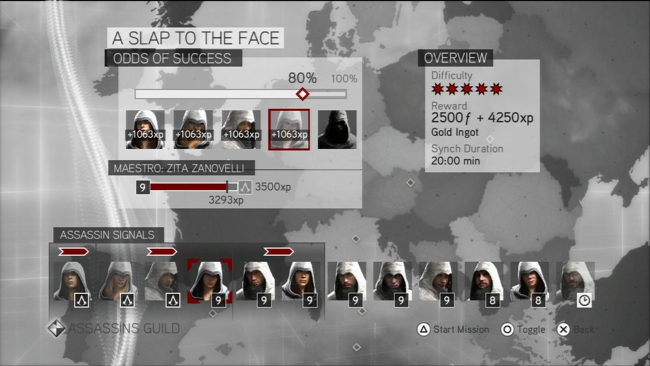 Assassin's Creed: Brotherhood PlayStation 3 Send your assassins on missions across Europe to gather experience.