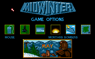 Midwinter Amiga Main Menu.