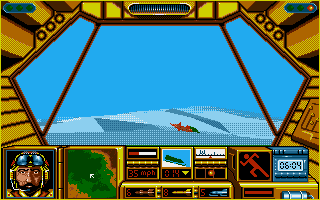 Midwinter Amiga In a snow mobile.
