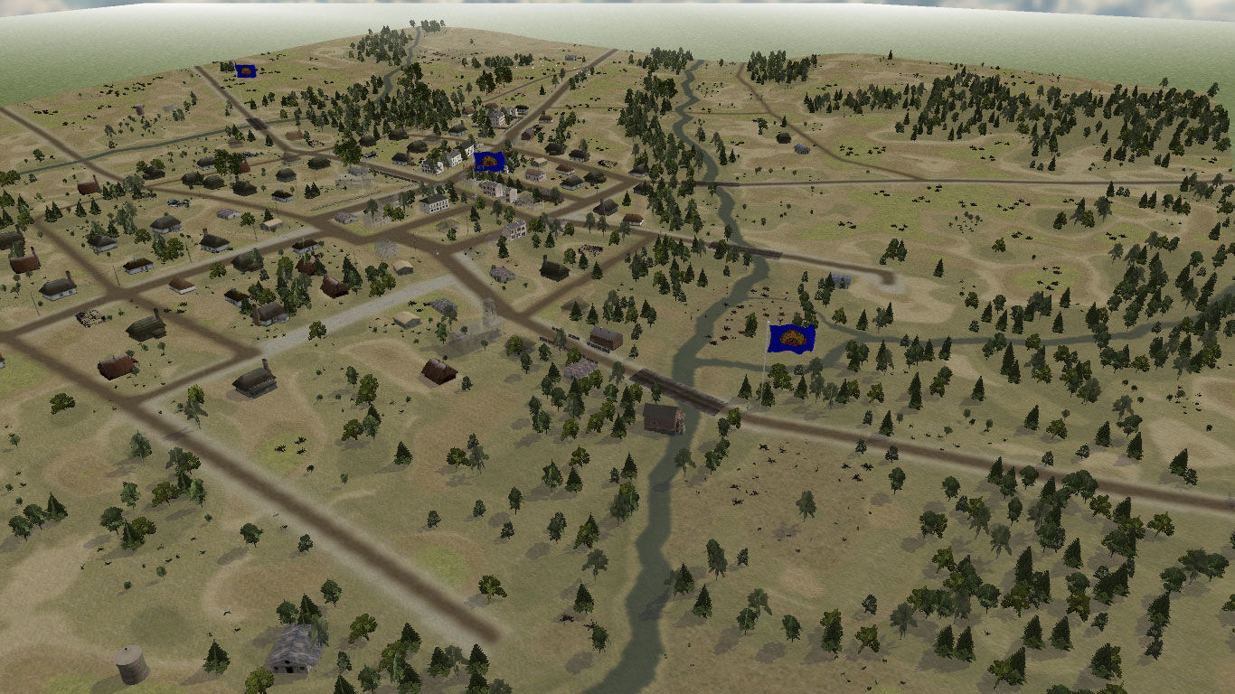 Panzer Command: Ostfront Windows Aerial view of the battlefield