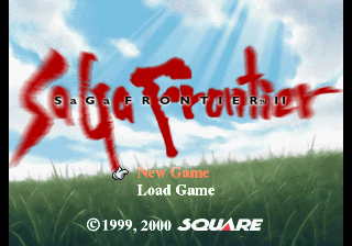 SaGa Frontier 2 PlayStation Title screen