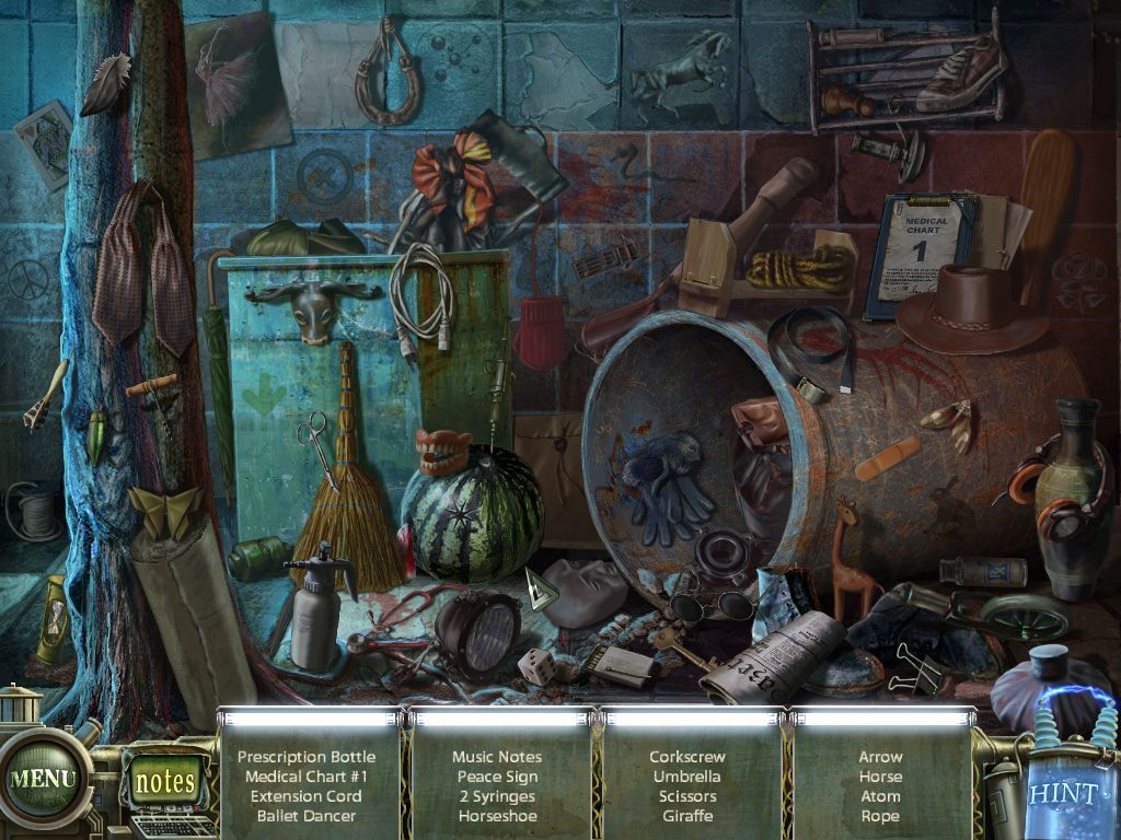 Haunted Halls: Green Hills Sanitarium Windows Another hidden object screen - searching the...whatever.
