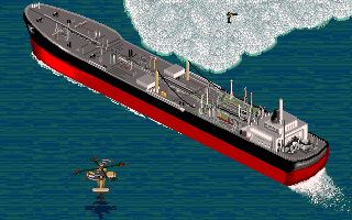 Jungle Strike DOS Level 10 - Oil tanker. (CD ROM Version)