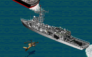 Jungle Strike DOS Level 10 - Destroyed an enemy frigate. (CD ROM Version)