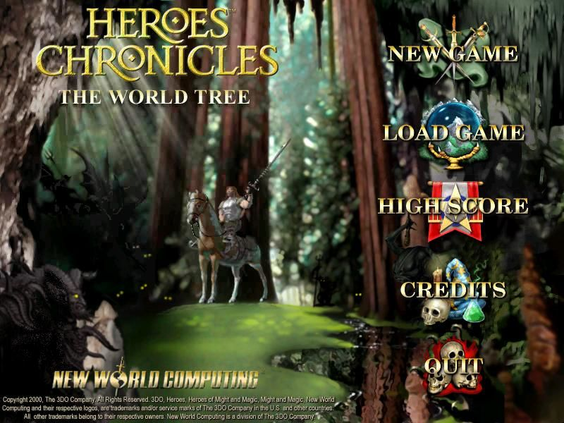Heroes Chronicles: The World Tree Windows Title screen