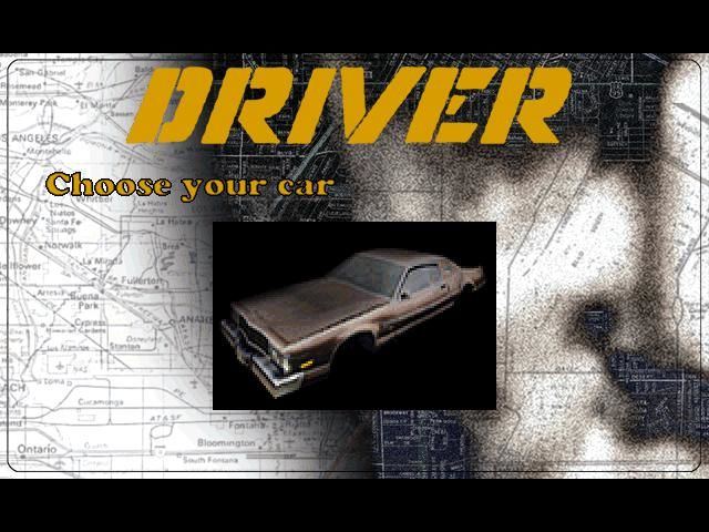 Driver Windows Select car option, unlocked on the PC version after completing the game