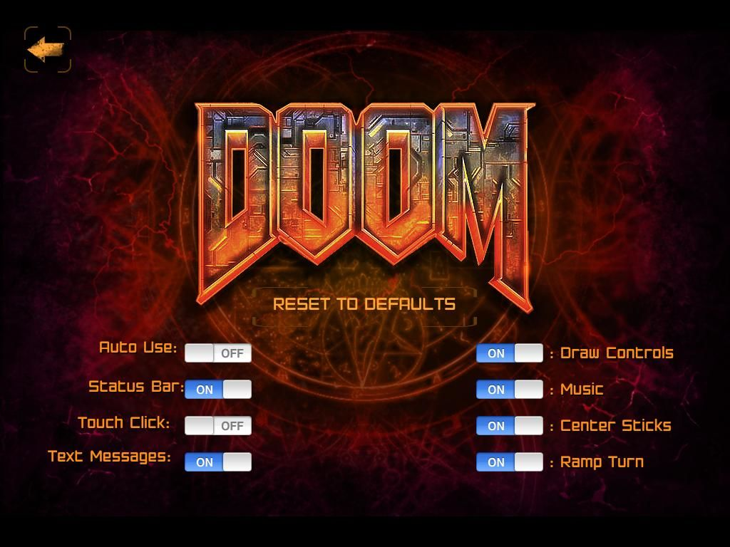 The Ultimate DOOM iPad Settings