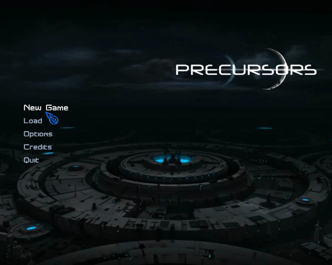 The Precursors Windows Title screen