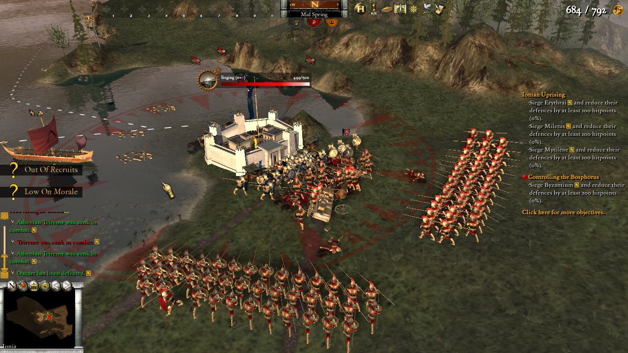Hegemony Gold: Wars of Ancient Greece Windows Spartans lay siege to an Athenian city