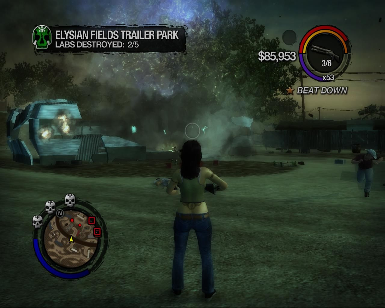 Saints Row 2 Windows Destroying an enemy drug labs