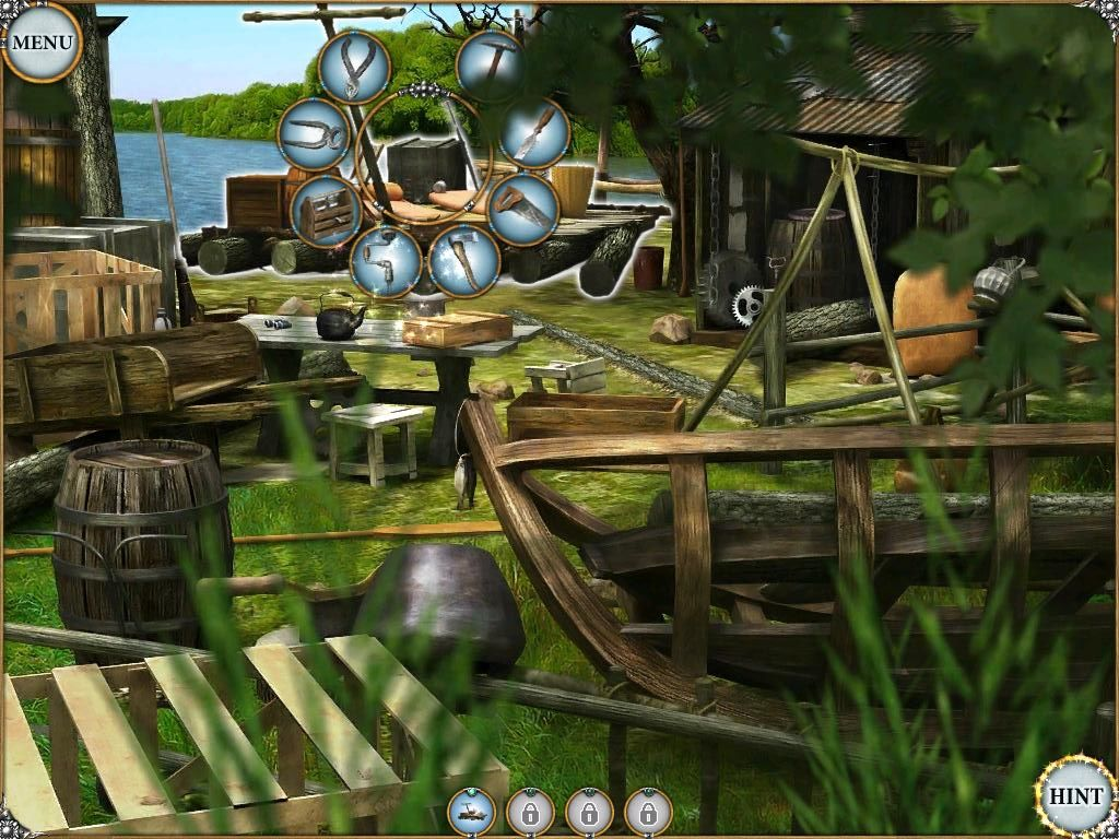 Treasure Seekers: Visions of Gold iPad The River raft - objects