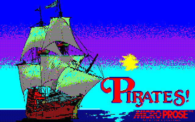 Sid Meier's Pirates! PC-88 Title screen