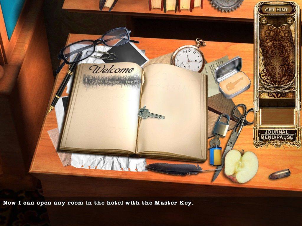 Haunted Hotel II: Believe the Lies iPad Hotel reception desk - Master key