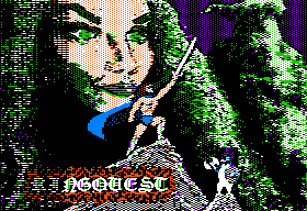 Ring Quest Apple II Title screen