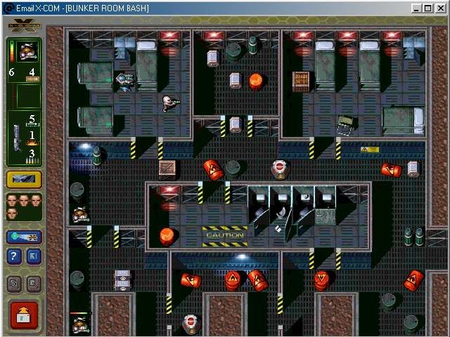 Em@il Games: X-COM Windows bunker room bash