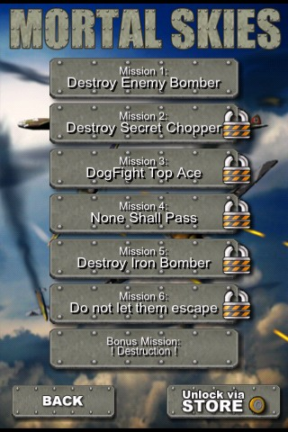 Mortal Skies: Modern War Air Combat Shooter iPhone Mission 1 - Destroy Enemy Bomber