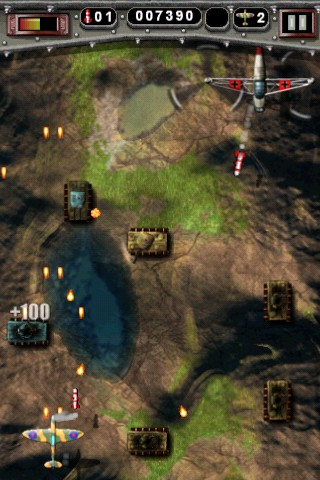 Mortal Skies: Modern War Air Combat Shooter iPhone Tank busting