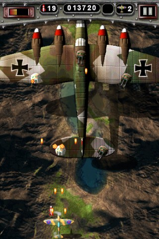 Mortal Skies: Modern War Air Combat Shooter iPhone Enemy Bomber - removing turrets