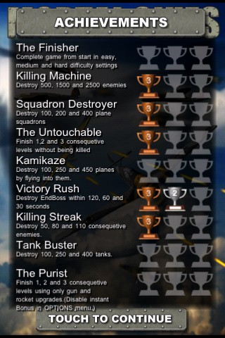 Mortal Skies: Modern War Air Combat Shooter iPhone Achievements