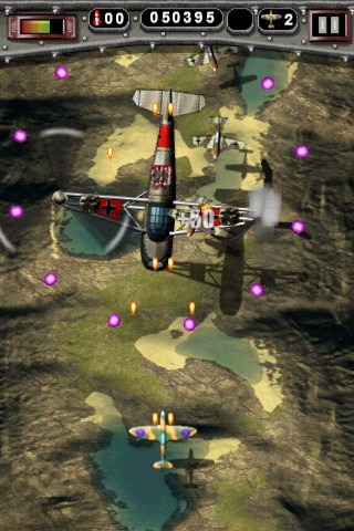 Mortal Skies: Modern War Air Combat Shooter iPhone Mission 2 - Secret Chopper one rotor gone almost down