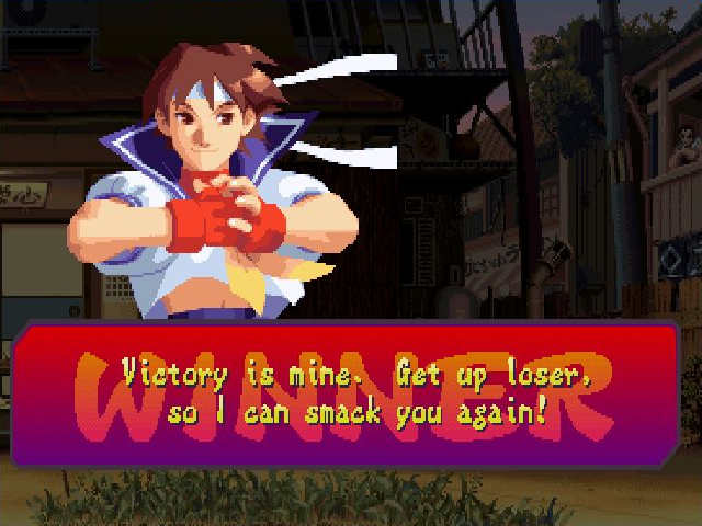 Street Fighter Alpha 2 Windows The computer won that one ...