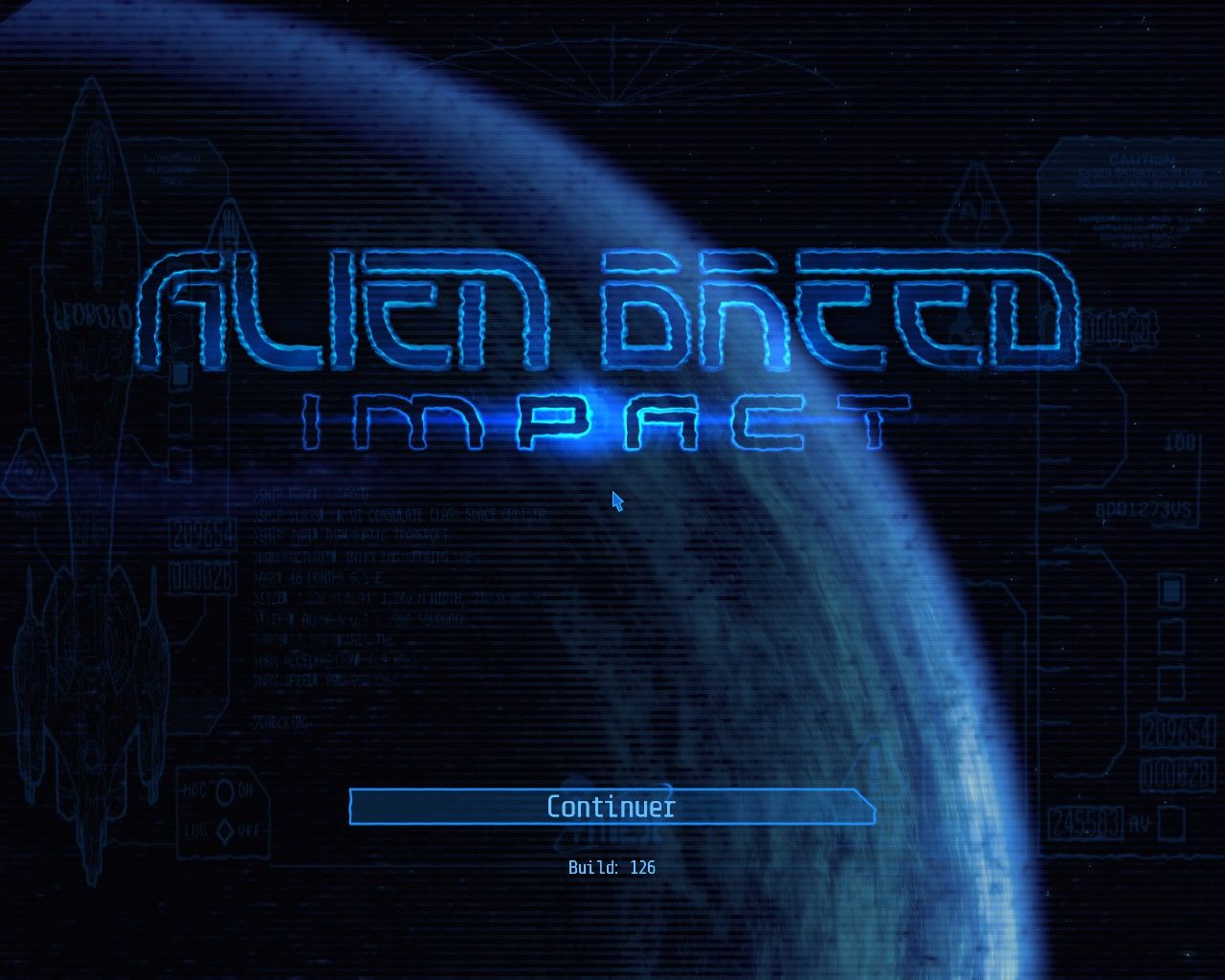 Alien Breed: Evolution - Episode 1 Windows Title screen