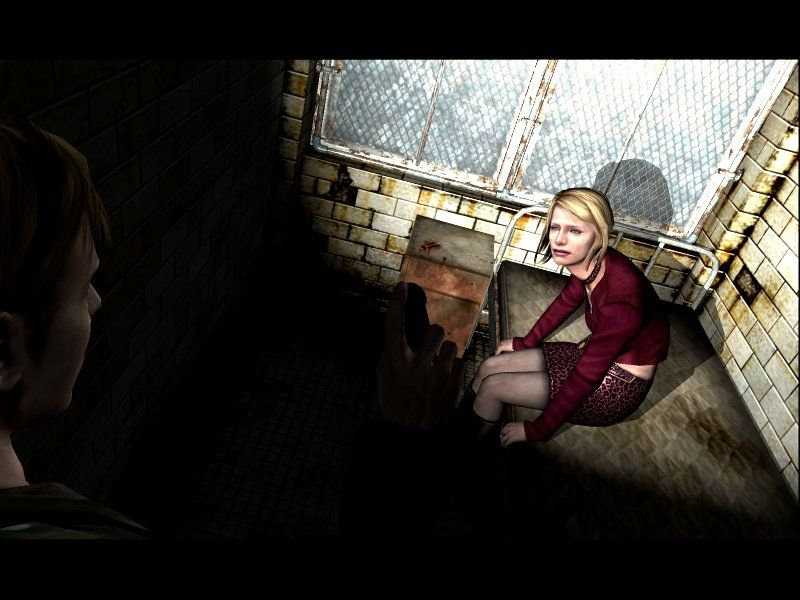 Silent Hill 2: Restless Dreams Windows Maria wants to rest for a while. Sure, honey, you must be pretty tired for walking behind me while I do all the fighting!