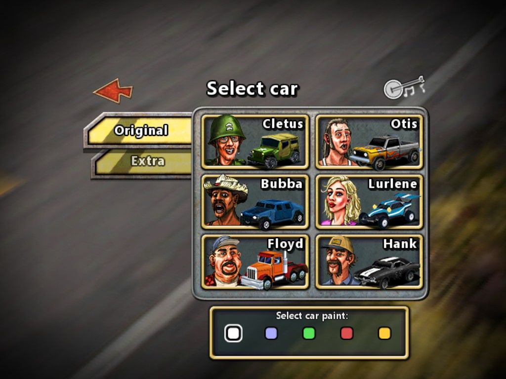 Reckless Racing iPad Single player select a car