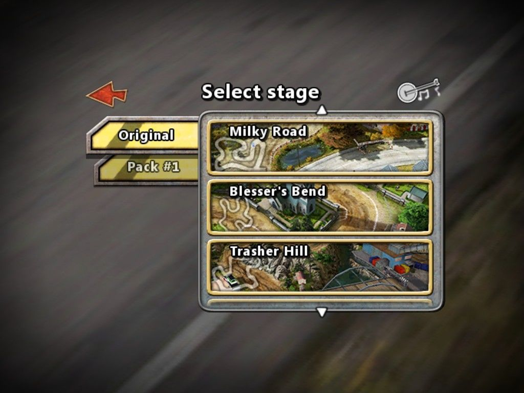 Reckless Racing iPad Select a stage or course with several available