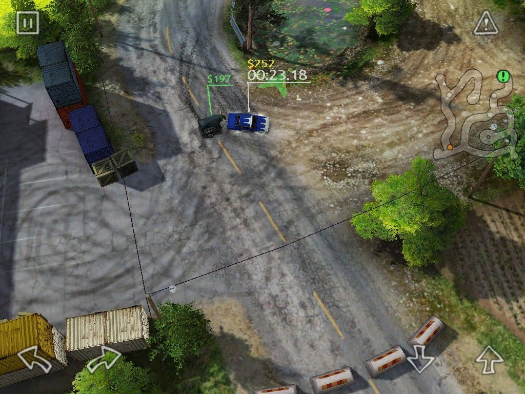 Reckless Racing iPad Another run and the trailer is about to flip my car in the turn