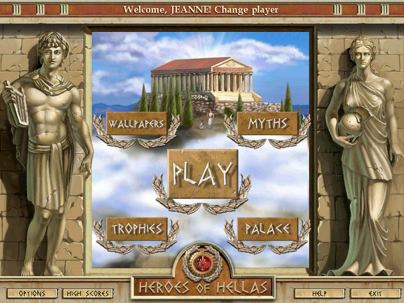 Heroes of Hellas Windows Main Menu