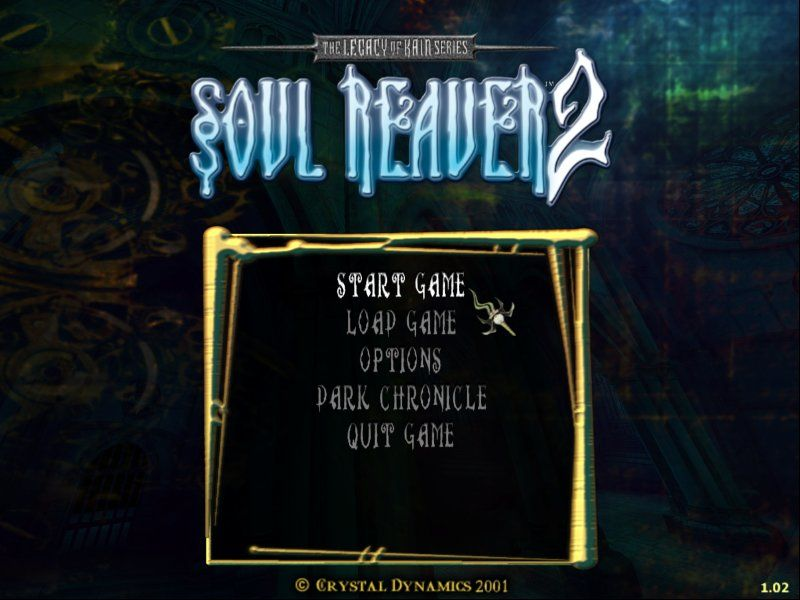 Legacy of Kain: Soul Reaver 2 Windows The options menu... take a wild guess: how many LoK freaks are right now using that small Soul Reaver icon as Windows cursor?