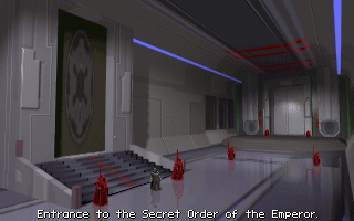 Star Wars: TIE Fighter DOS The entrance to the the elite Secret Order of the Emperor, where only the best TIE pilots are admitted.