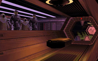 Star Wars: TIE Fighter DOS The funeral of an Imperial TIE pilot.