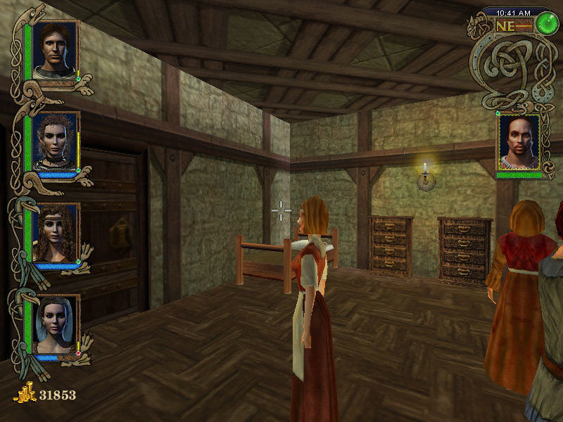 Might and Magic IX Windows Inside of the building in Thjorgard