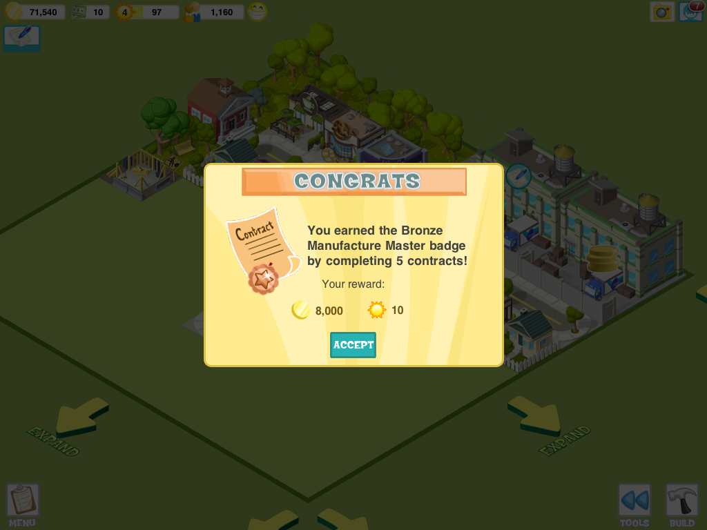 City Story iPad You earn awards by completing activities