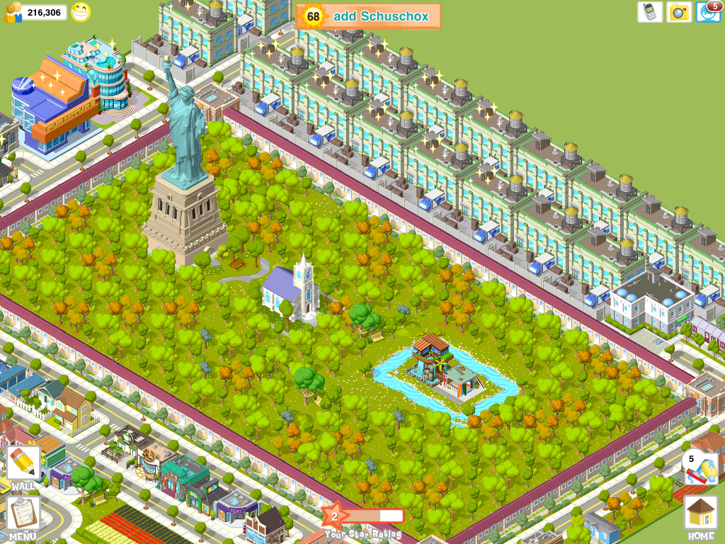 City Story iPad Nice - a big park right int he center!